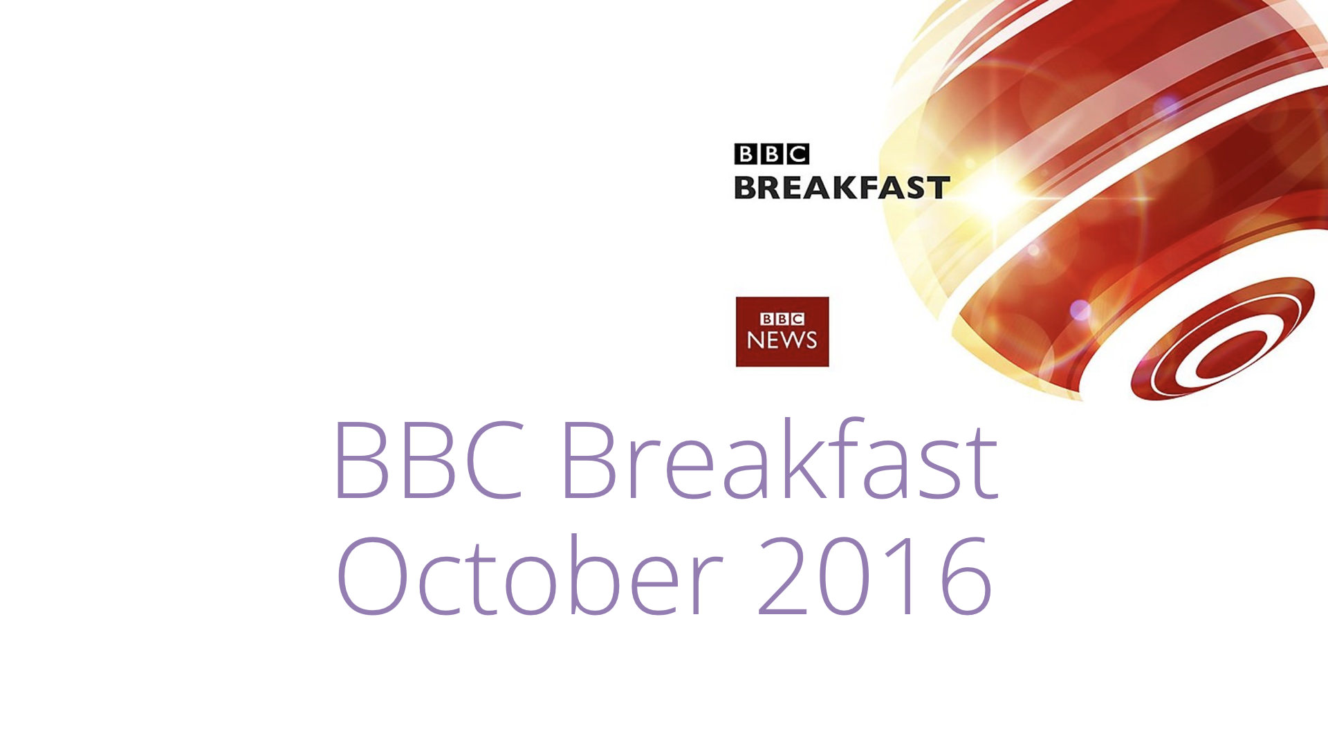 BBC Breakfast – October 2016