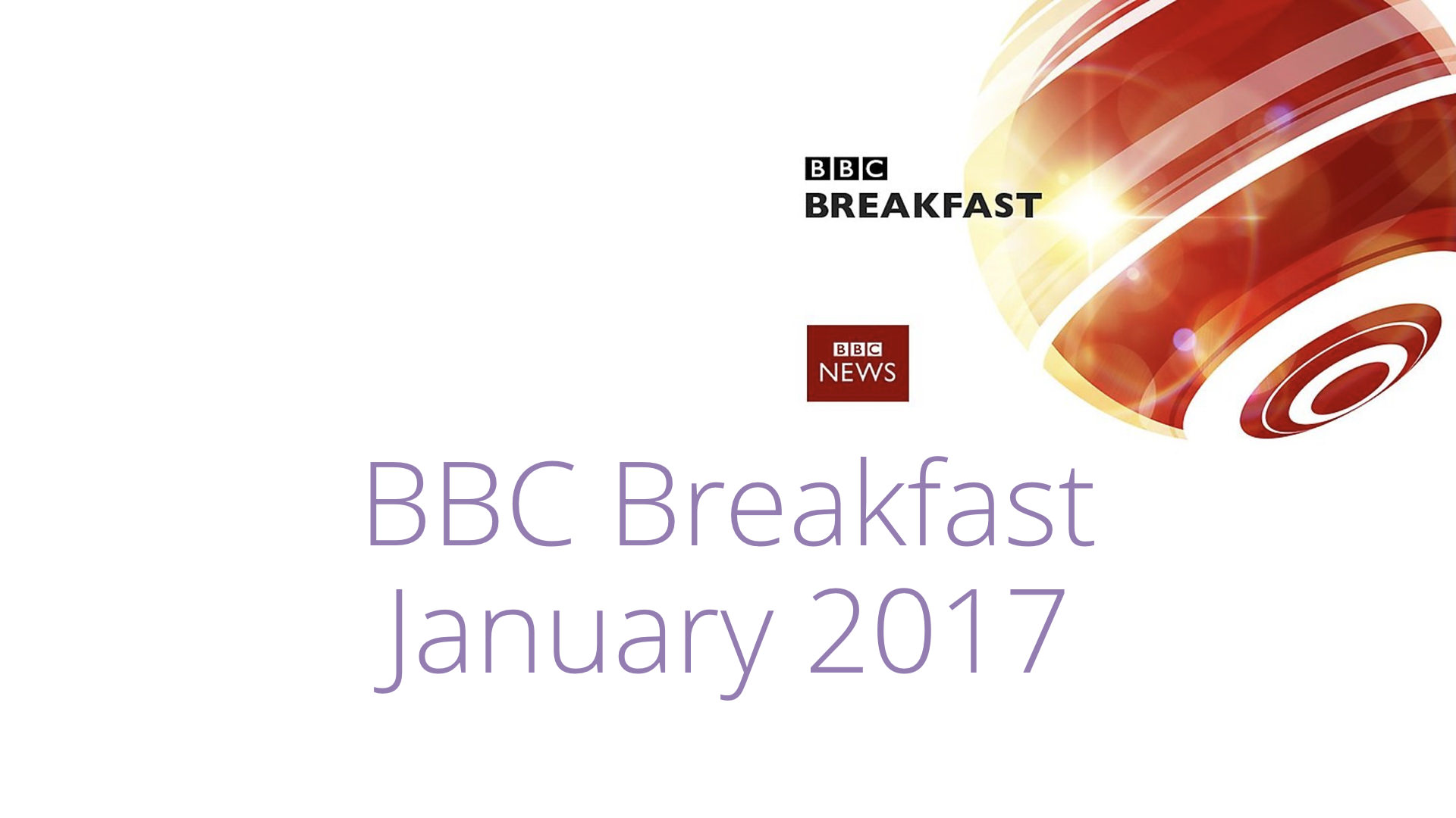 BBC Breakfast – January 2017